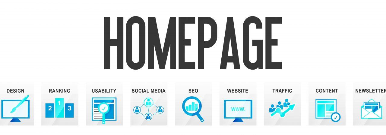 Homepage development